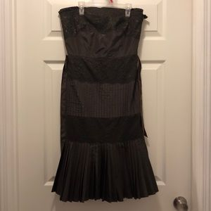 Banana republic brown lace strapless dress